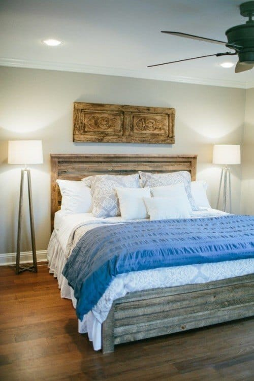Get the fixer upper bedroom look. So many beautiful and almost identical copycat items to recreate the look!