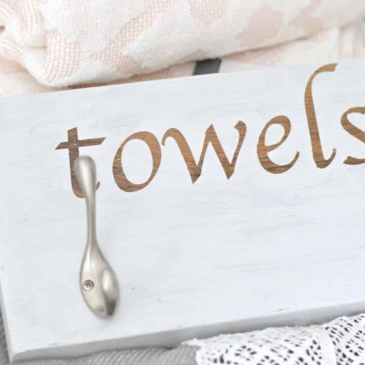 DIY towel hook rack