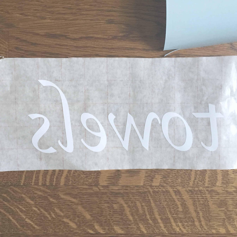 Transferring vinyl lettering to sticky transfer paper