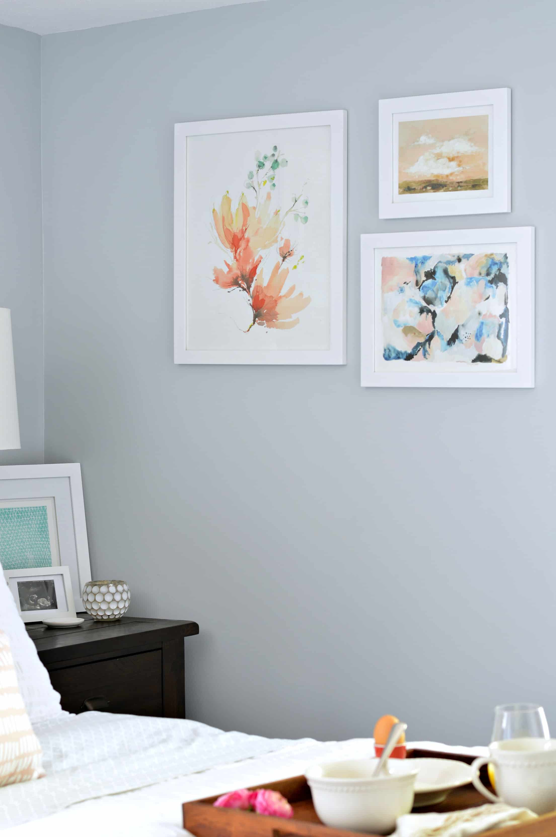 Beautiful bedroom art from Minted.com