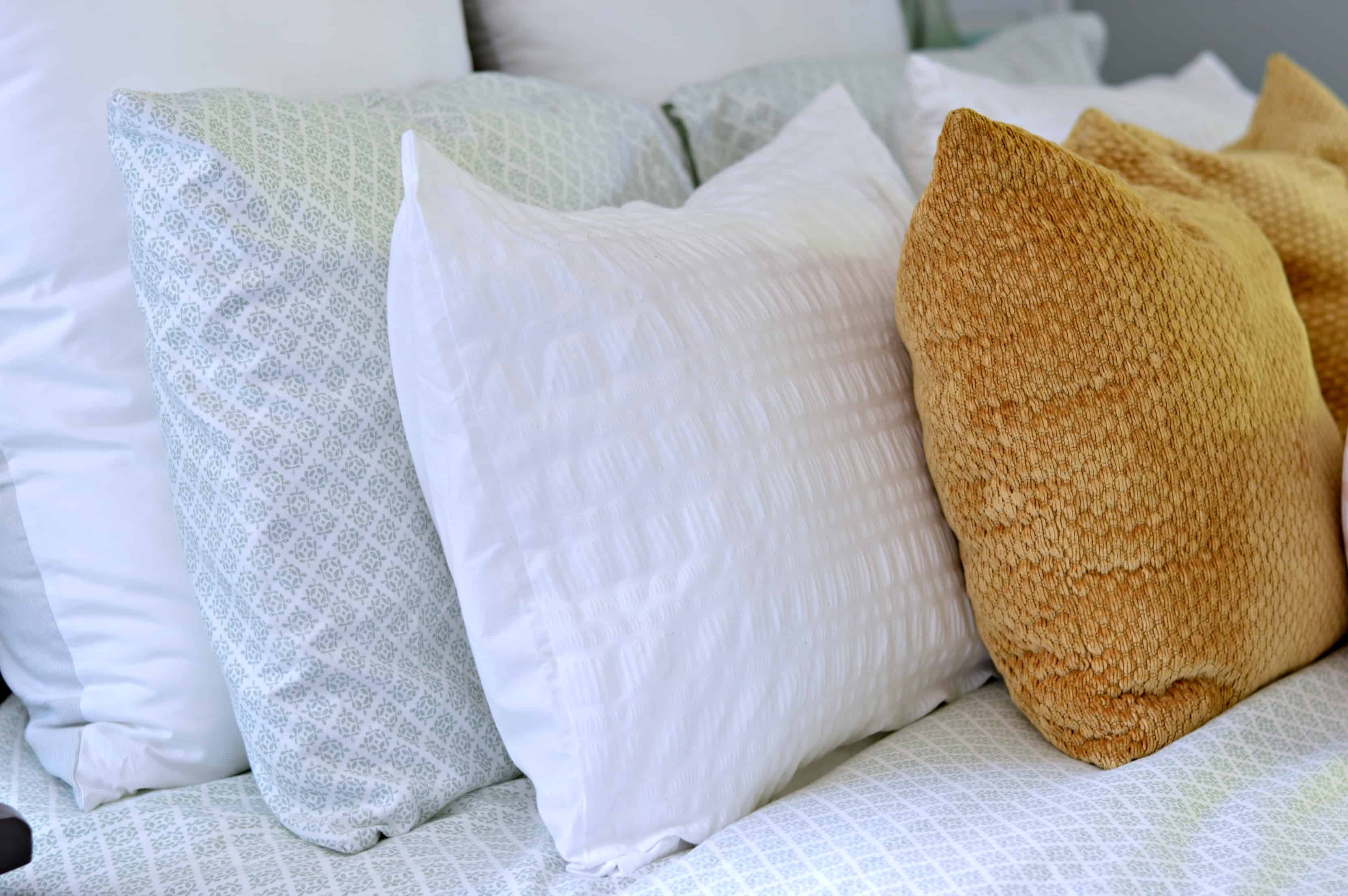 Adding texture to a bed is easy with pillows