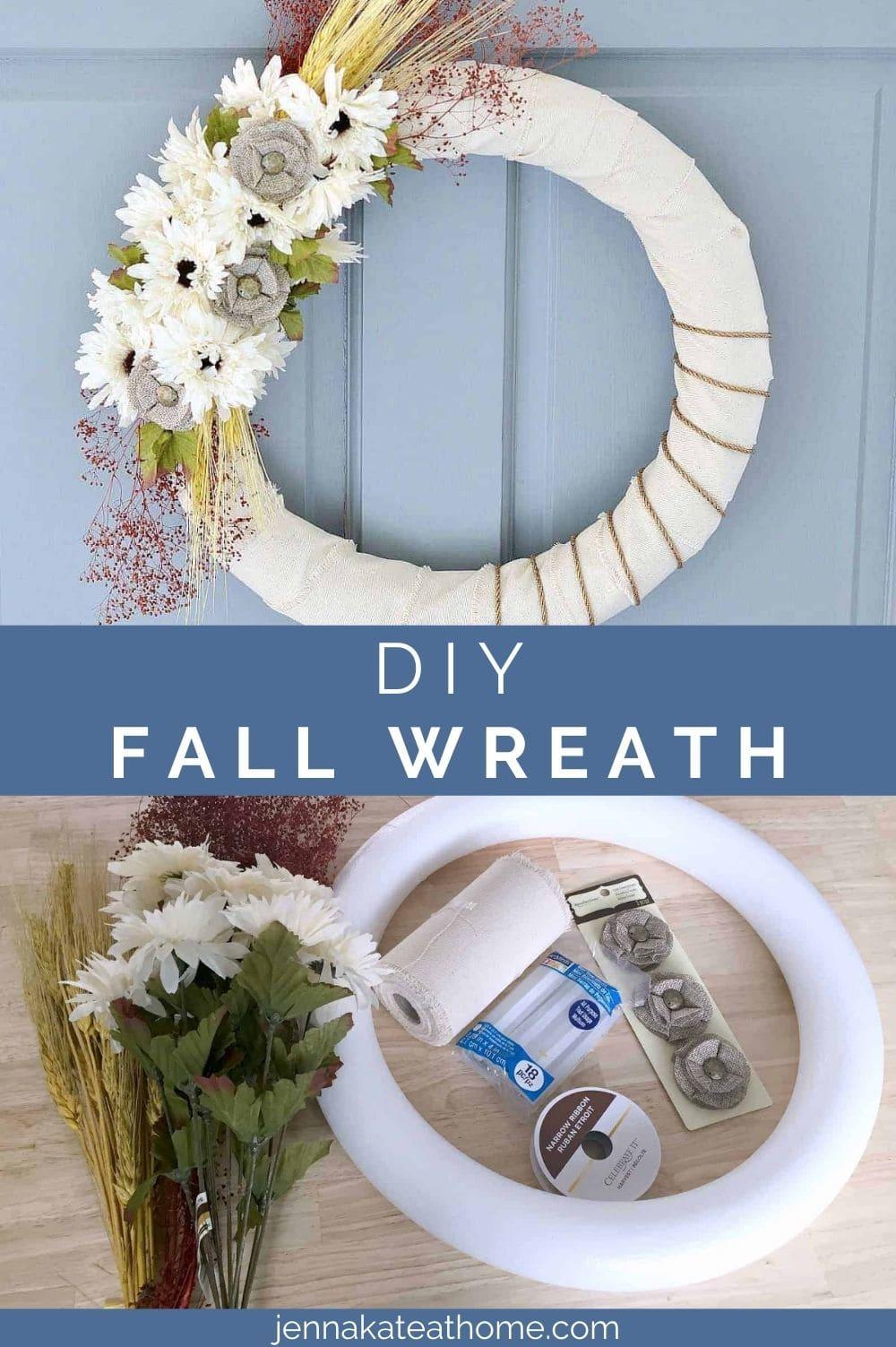 easy DIY fall wreath pin
