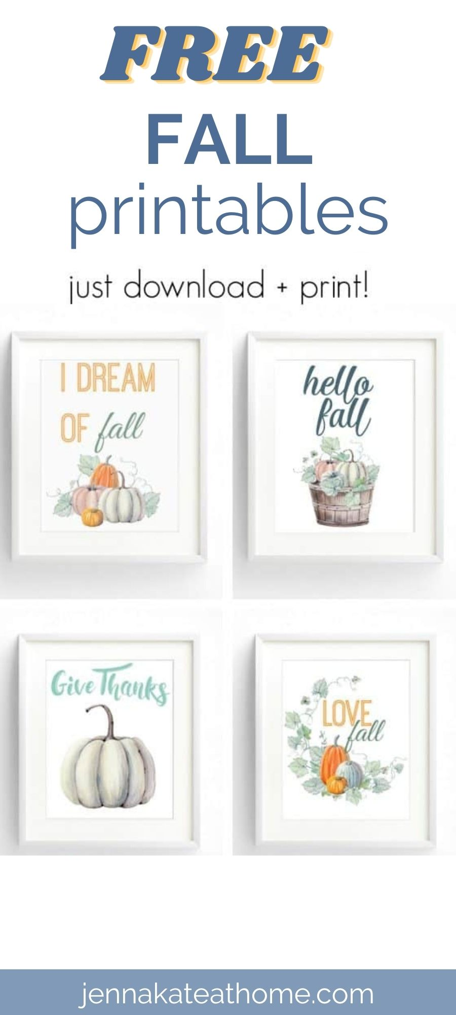 free fall printable wall art for your home