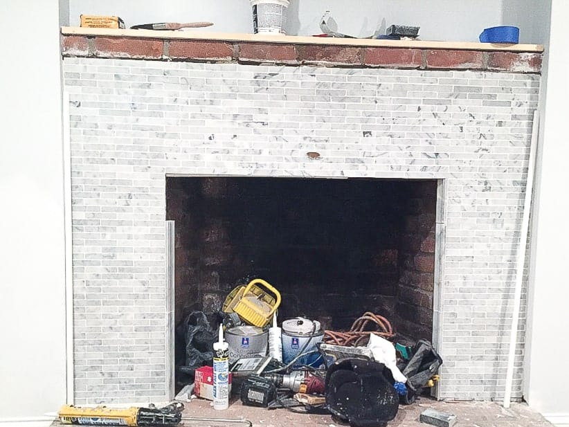 basement-reno-week-3-marble-fireplace-3