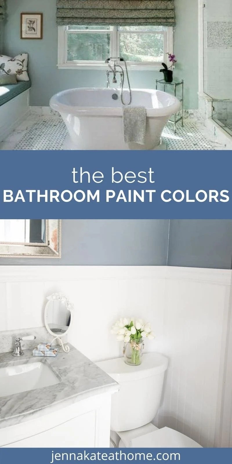best bathroom paint colors pin