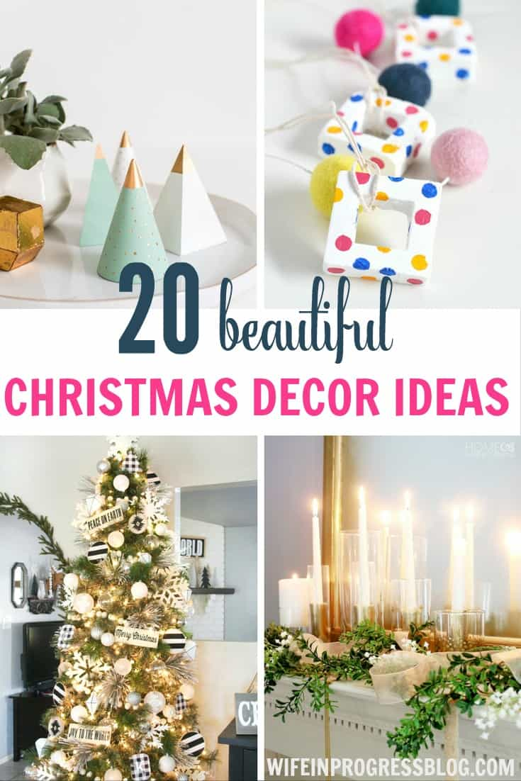 These beautiful Christmas decor ideas are perfect for any home or skill level! From DIY to creative and colorful, there's a Christmas project in here for you!