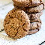 This is the BEST gingersnap cookie recipe I've ever made. It has the perfect blend of spices, it's crunch on the outside and chewy in the middle. And look at how the sugar falls into the crackles! SO GOOD!