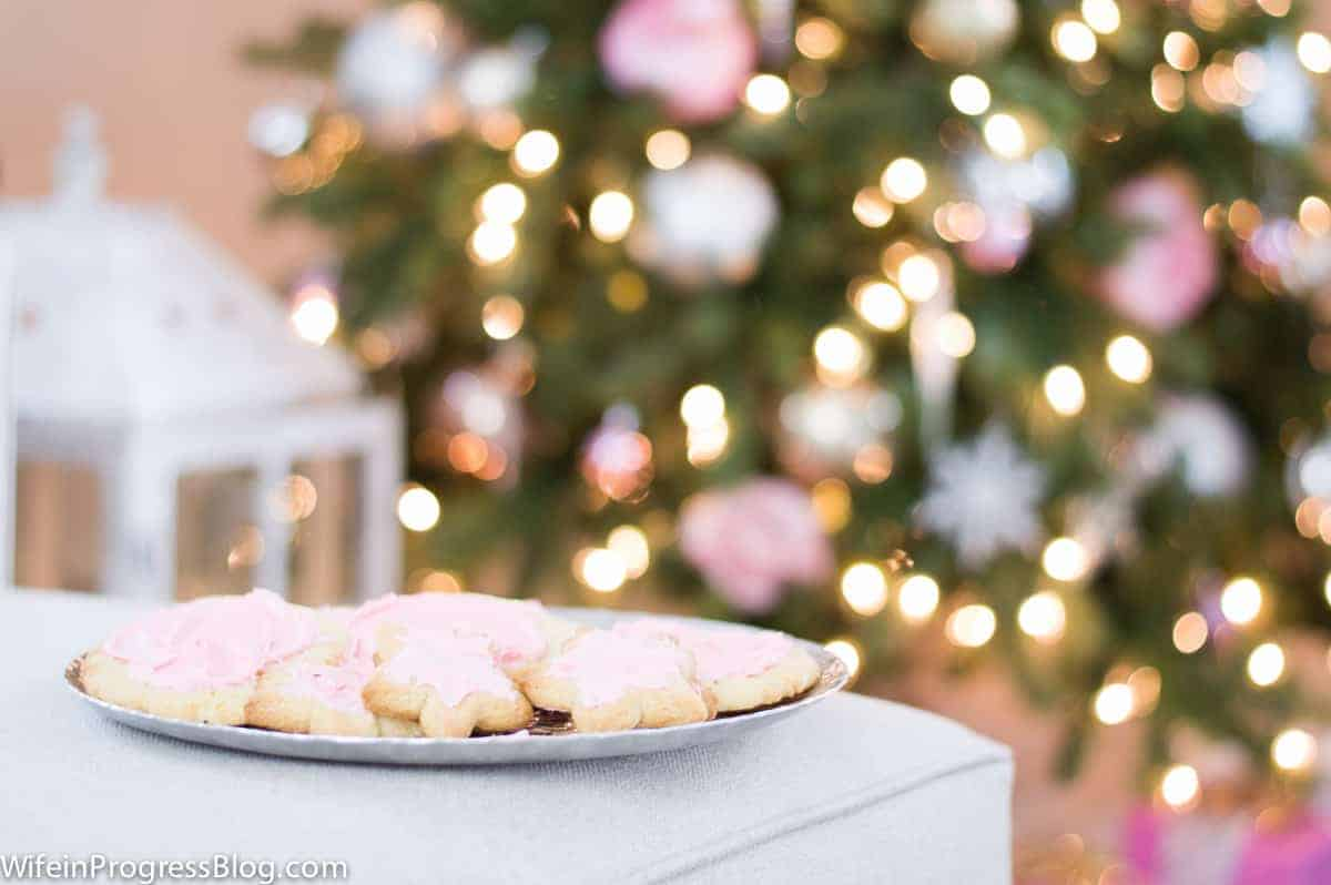 Pink Christmas Tree Decorations - Pink Sugar Cookies