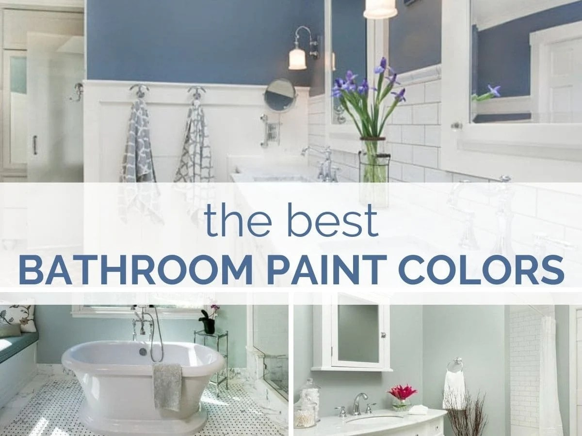 The best bathroom paint colors header image