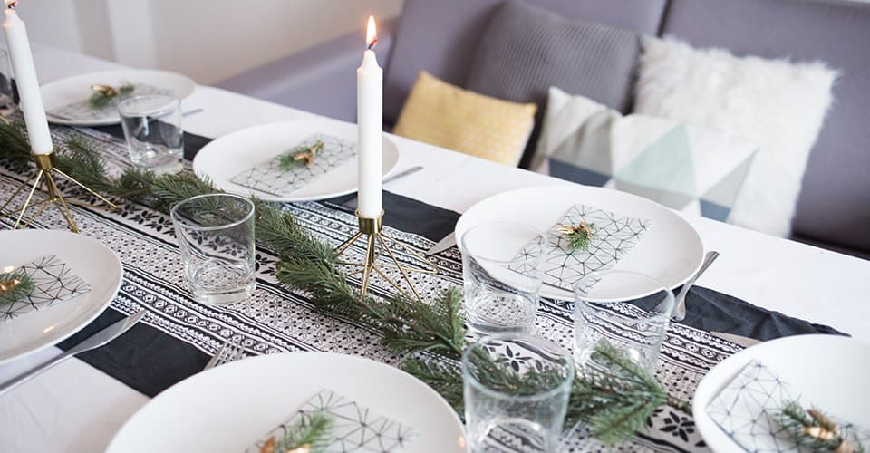 This Christmas tablescape has some DIY elements that add a personal touch to your Christmas decor