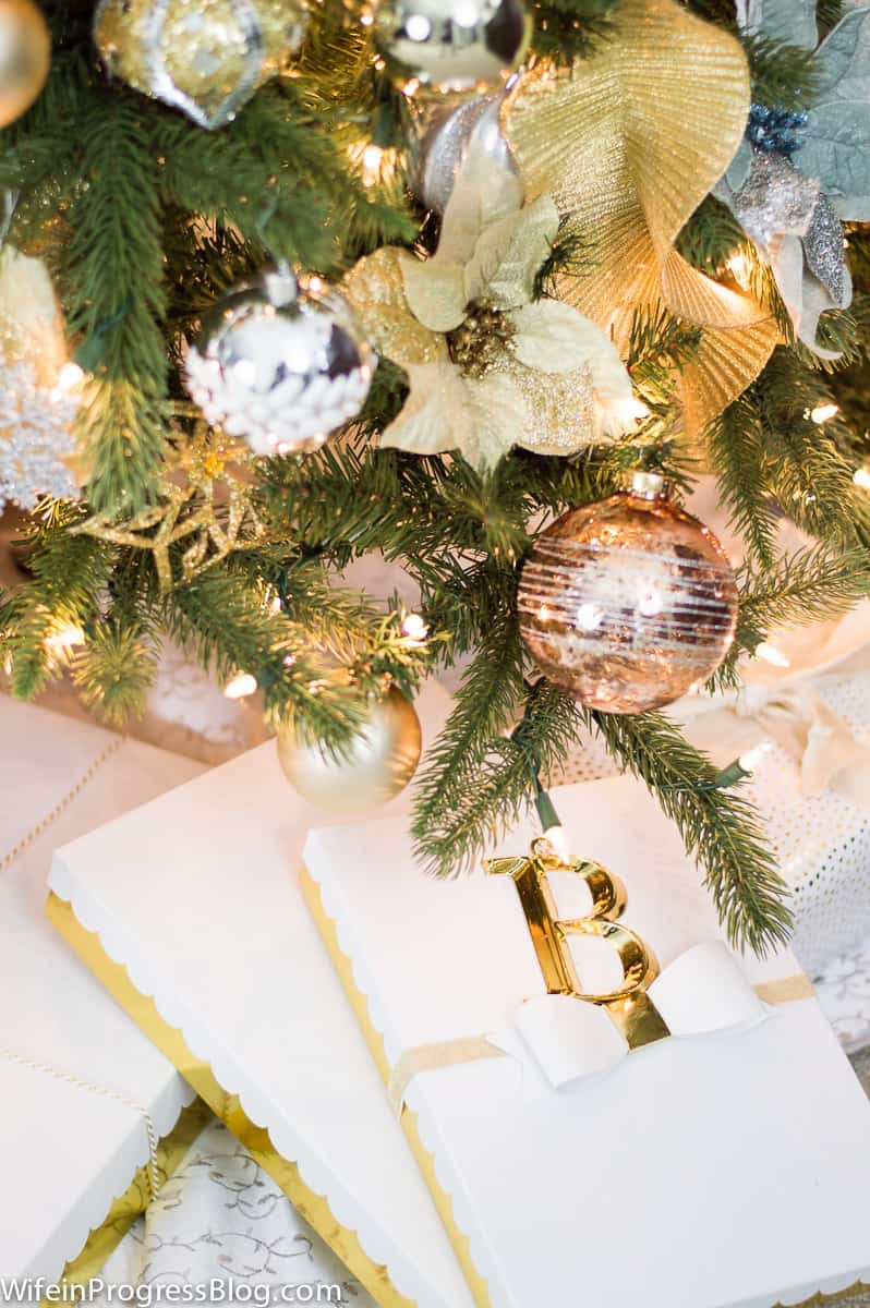 Gold Christmas Tree Decor
