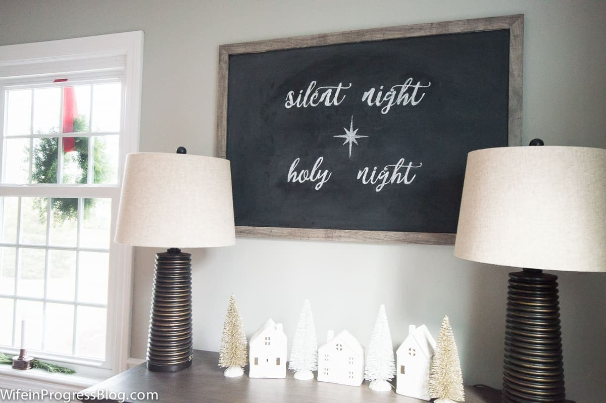 Learn how simple and easy it is to DIY your own chalkboard lettering. I can't wait to change up my chalkboard with each season now!