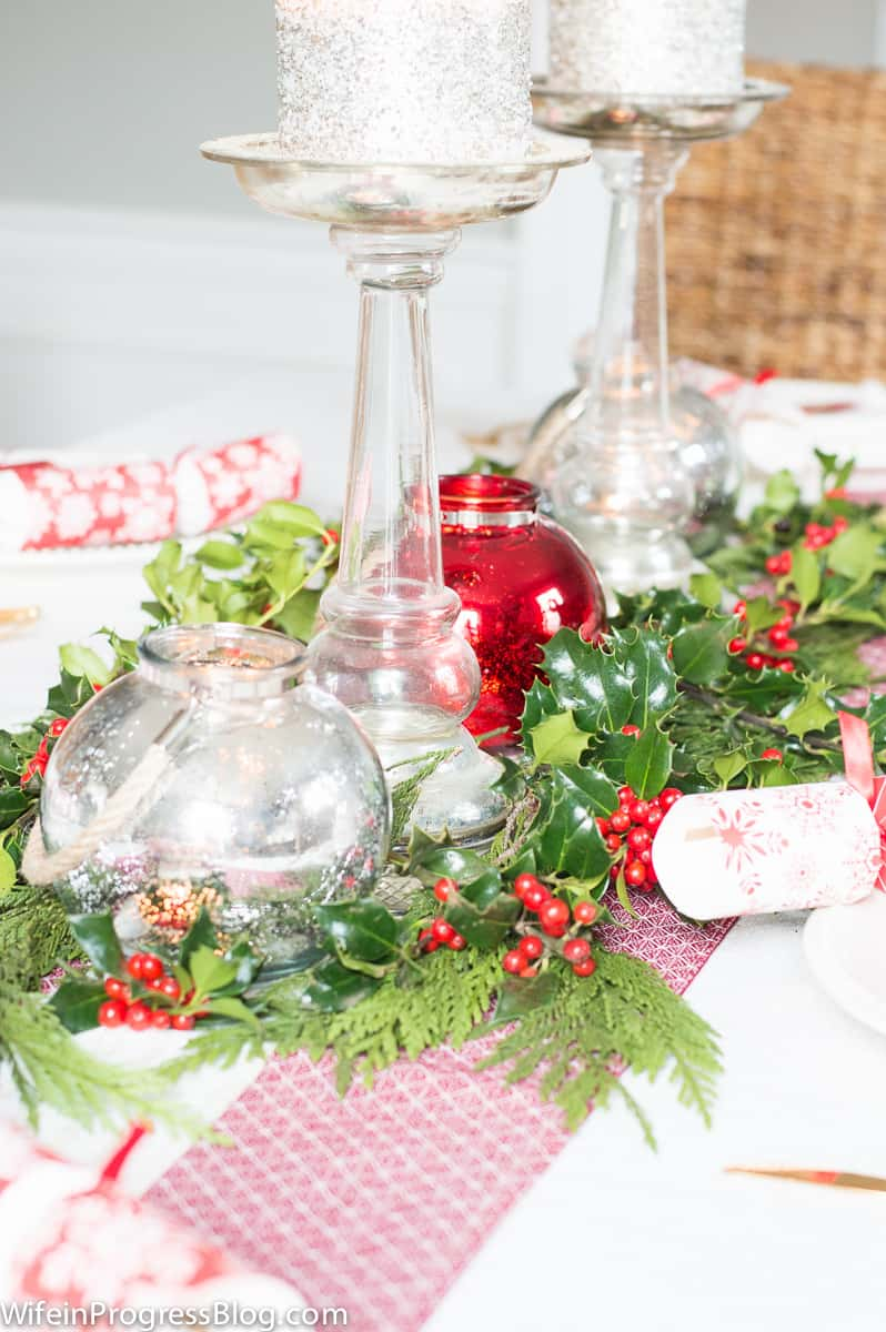 Christmas table decorations - holiday home tour part 3