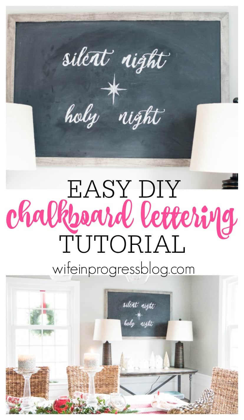 You're not going to believe how easy it is to DIY your own chalkboard lettering! All you need is chalk and a pen...it's so simple!