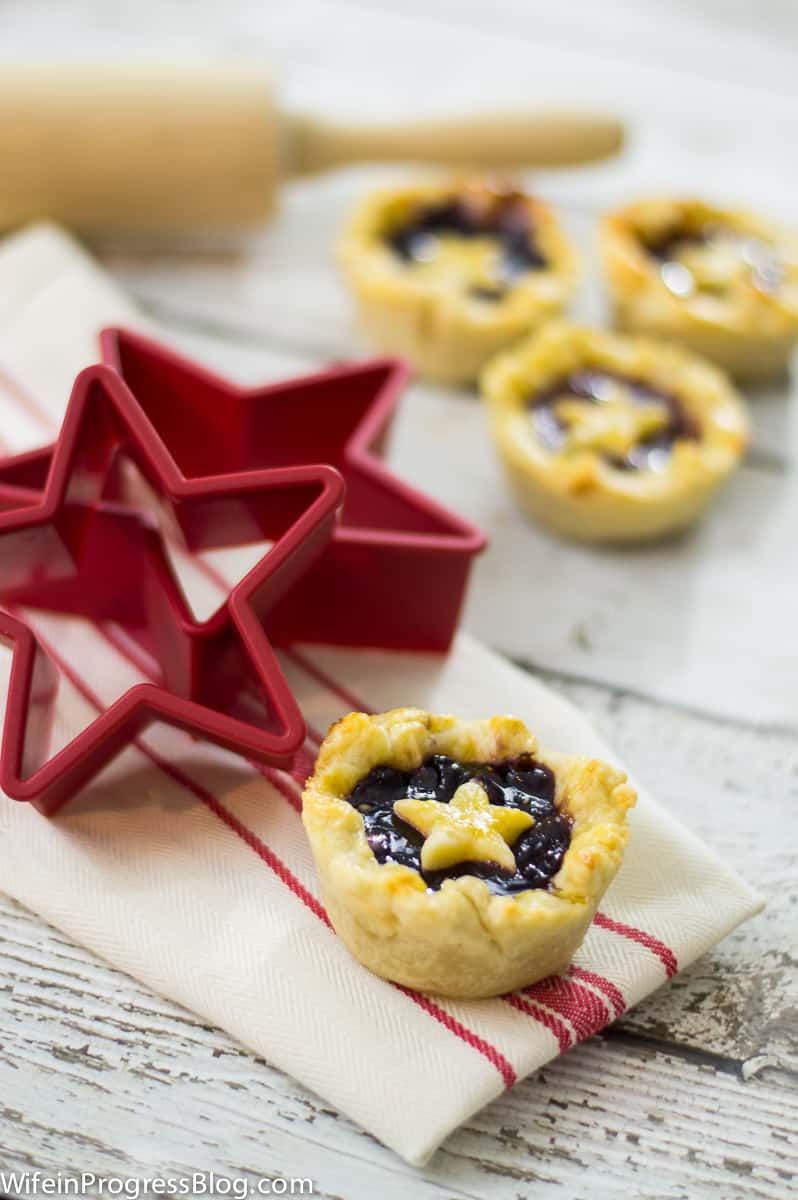 jam tart with pastry star on top