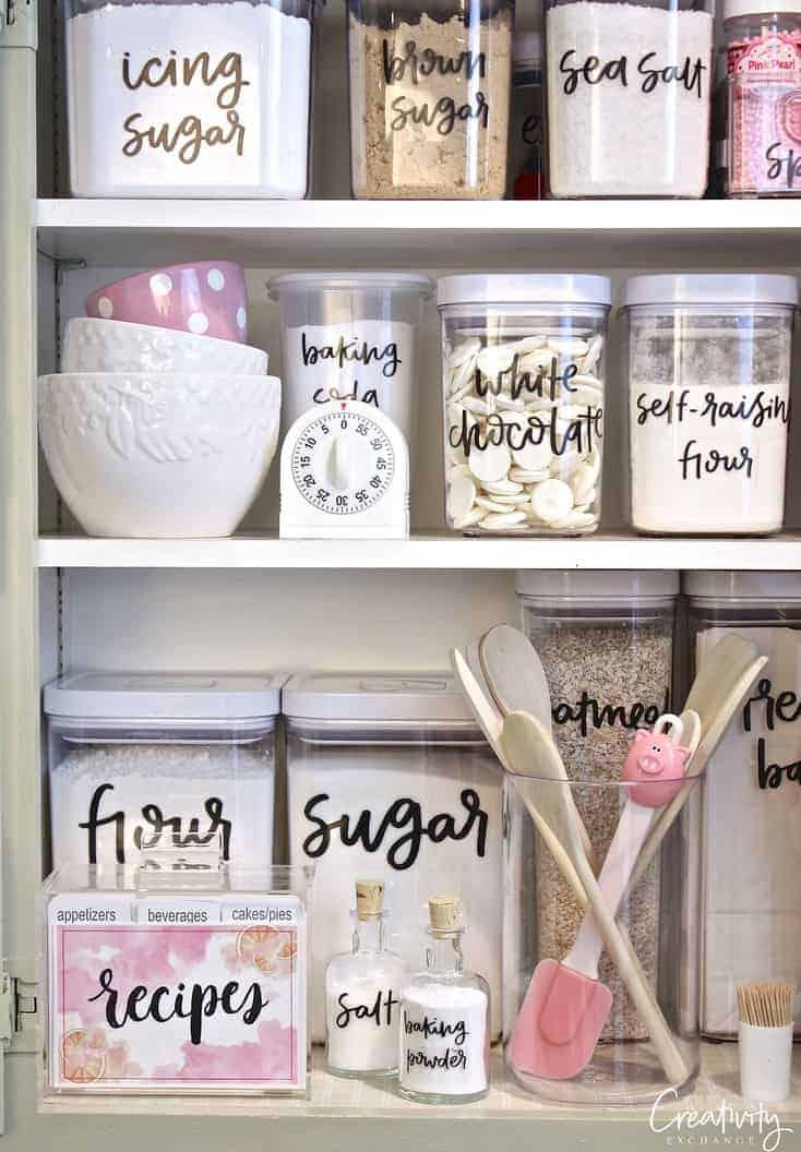 The Best Kitchen Organization Ideas - beautiful kitchen pantry labels
