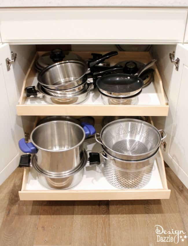 The Best Kitchen Organization Ideas - Pull out shelves