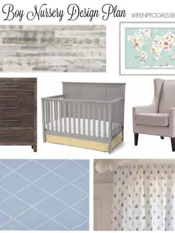 baby boy nursery | gray nursery | home deocr | kids room