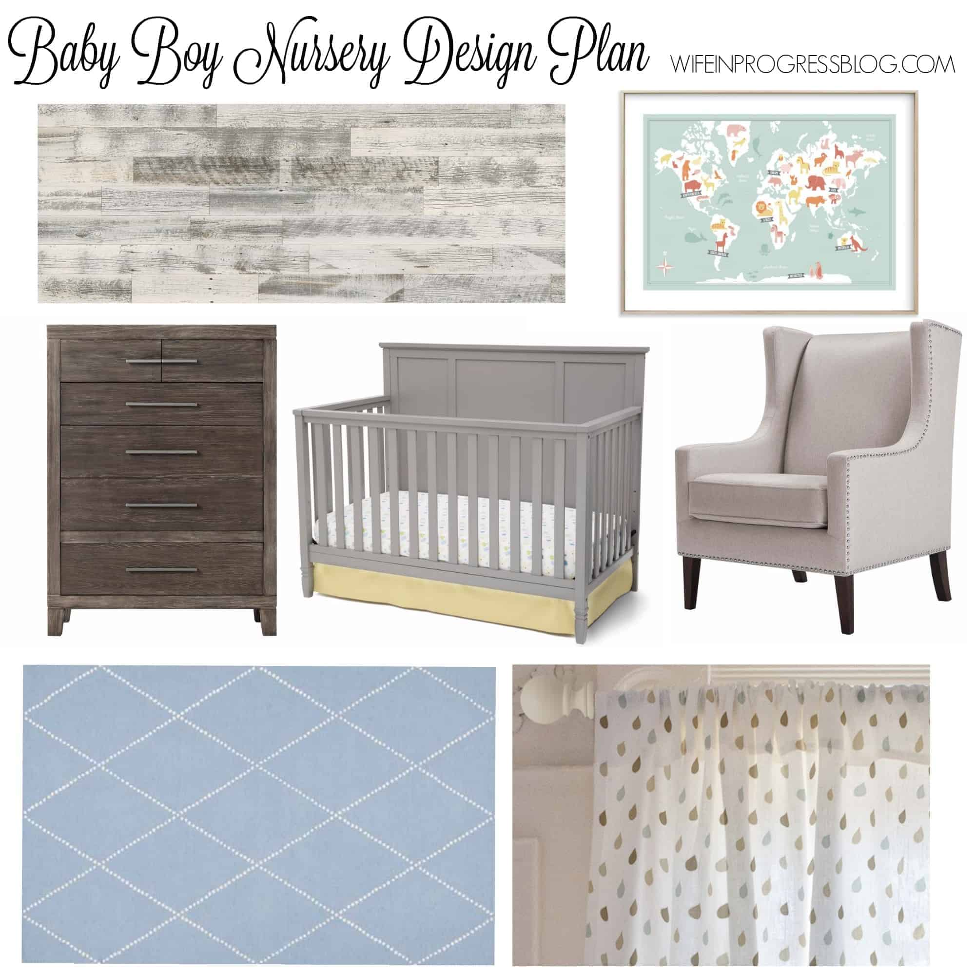 baby boy nursery | gray nursery | home deocr | kids room
