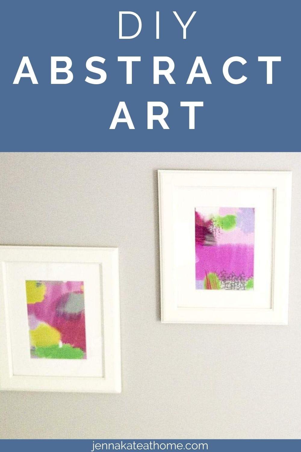 DIY abstract art pin