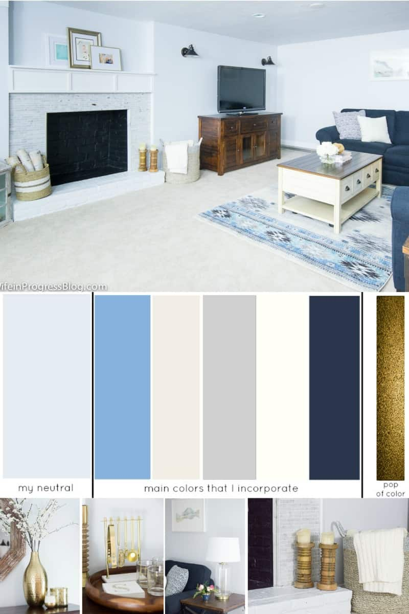 An example of a whole house color palette