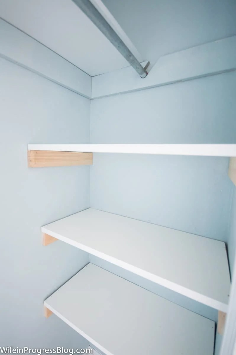 DIY closet shelving is the perfect first DIY project and add so much functionality to a basic closet