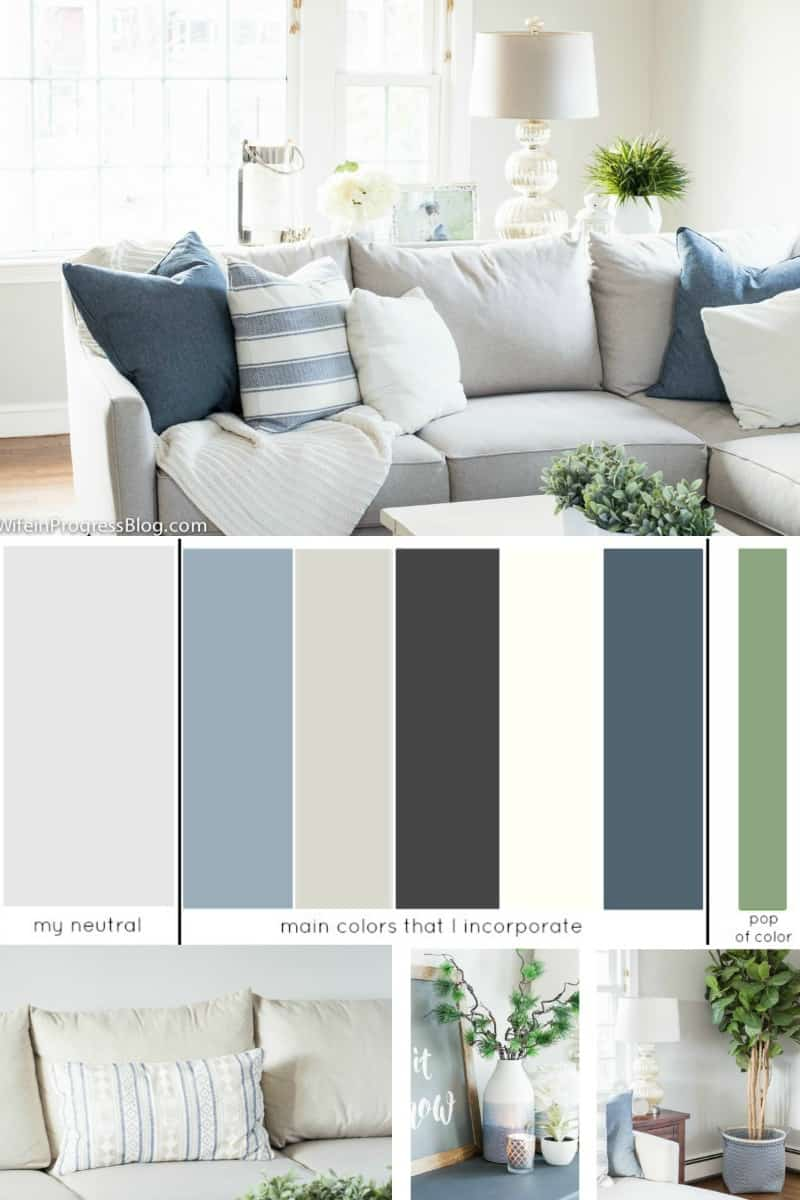 This is an example of a whole house color scheme
