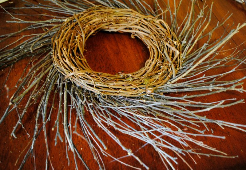 DIY Twig and Moss Wreath