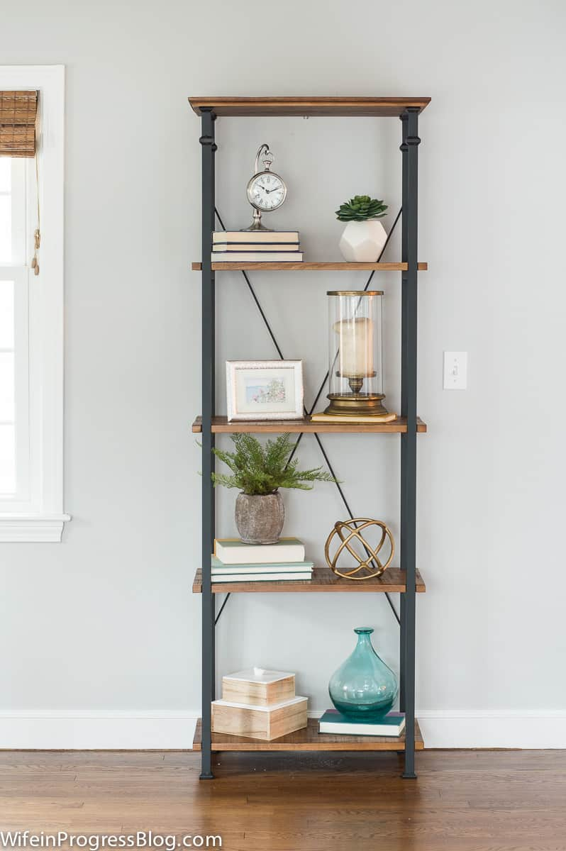 How to style a bookcase - just follow a few simple steps
