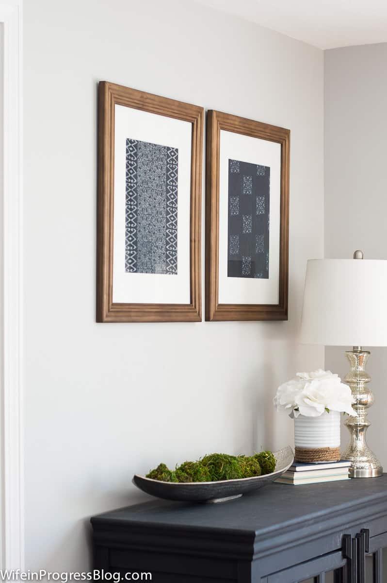 Easy DIY indigo artwork inspired by Pottery Barn textile art