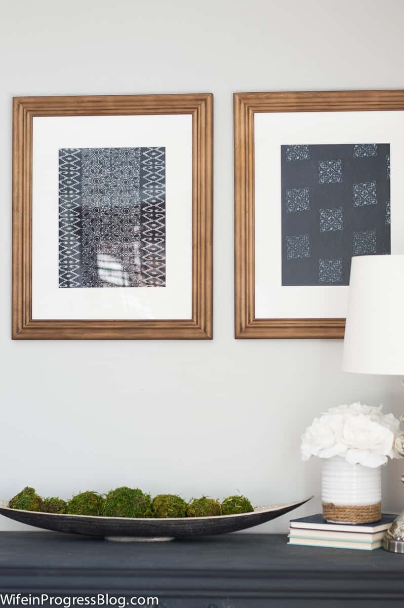 DIY textile art inspired by Pottery Barn