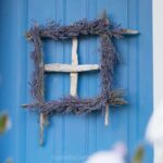 Driftwood and Lavender Window Wreath