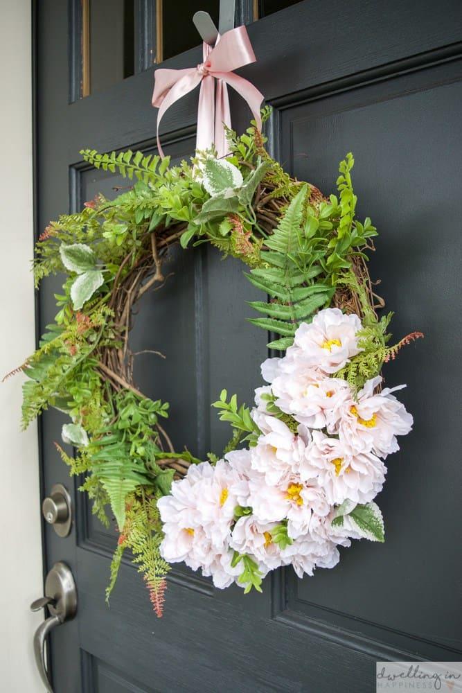 Easy Spring Wreath