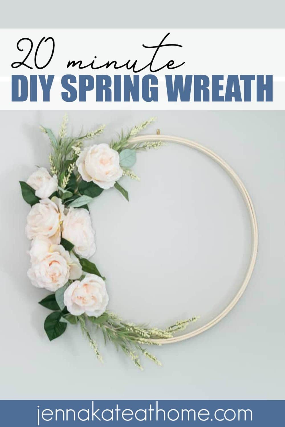 This easy DIY spring wreath takes only 20 minutes to make and will look perfect on your front door or anywhere in your home!