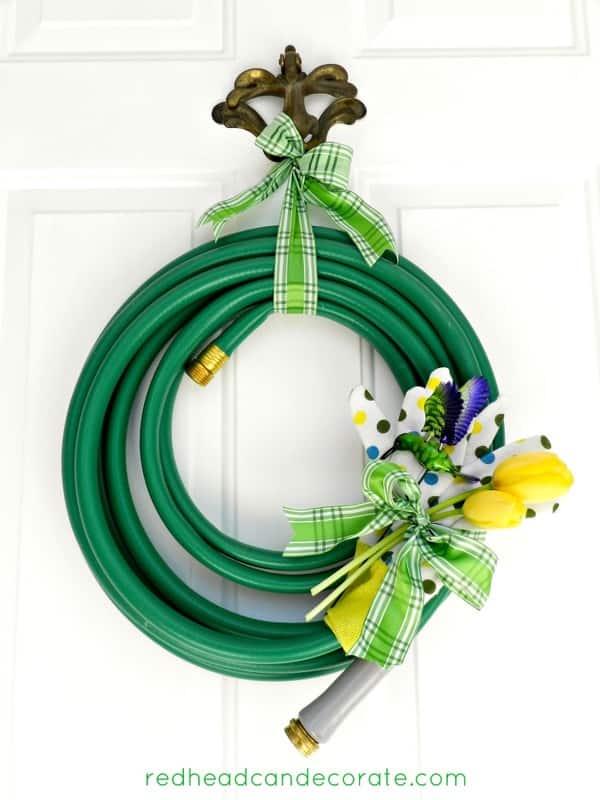 DIY Spring Garden Hose Wreath