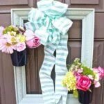 DIY Spring Picture Frame Wreath