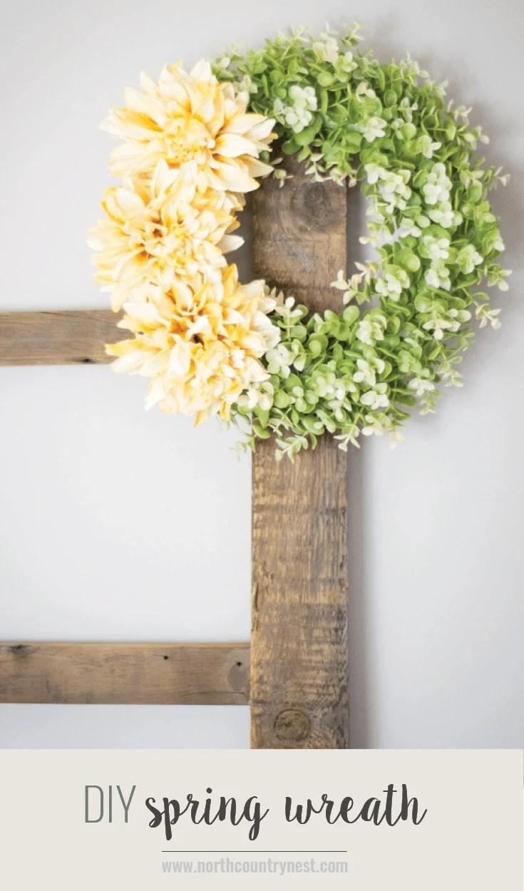 Yellow Dahlia Spring Wreath