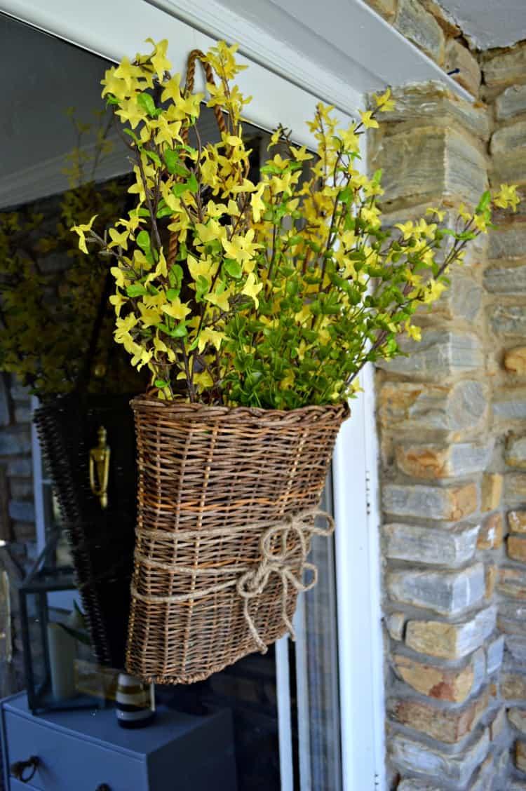 Spring Front Door Basket