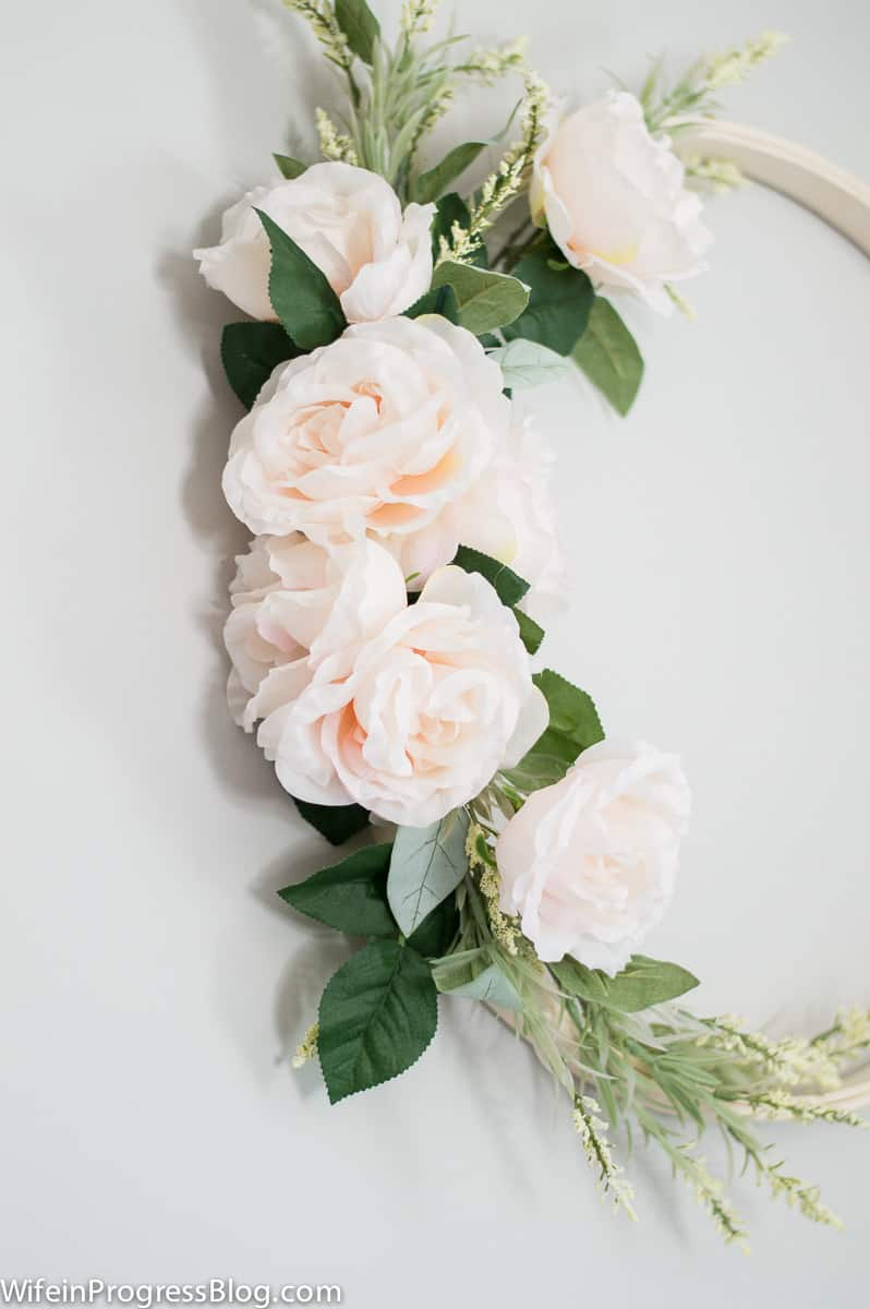 simple DIY floral wreath