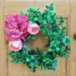 Spring Wreath Ideas: DIY Flower Wreath Using No Glue!