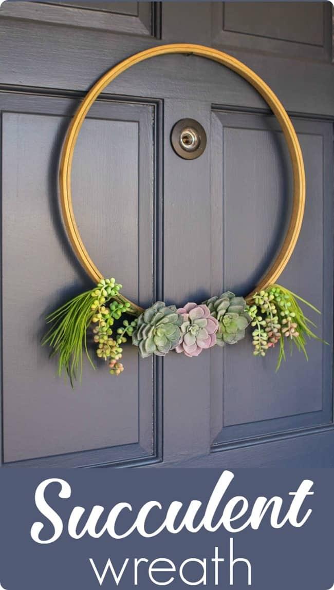 Succulent Wreath - Great Spring Wreaths