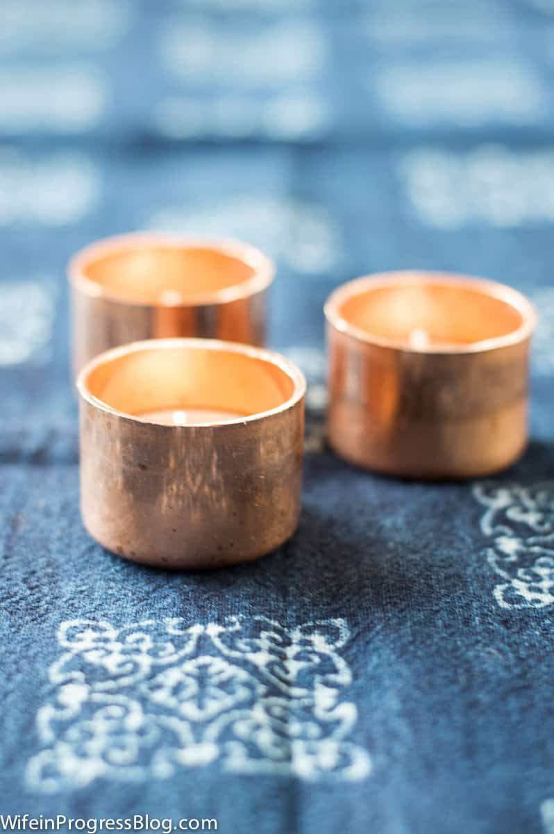 DIY copper candle holders | easy tealight holders | copper crafts