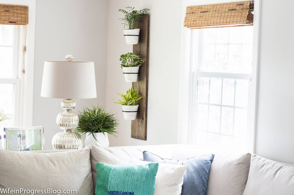 Farmhouse style plant holder | vertical planter