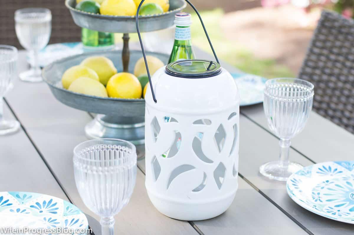 pretty solar lantern | patio decor