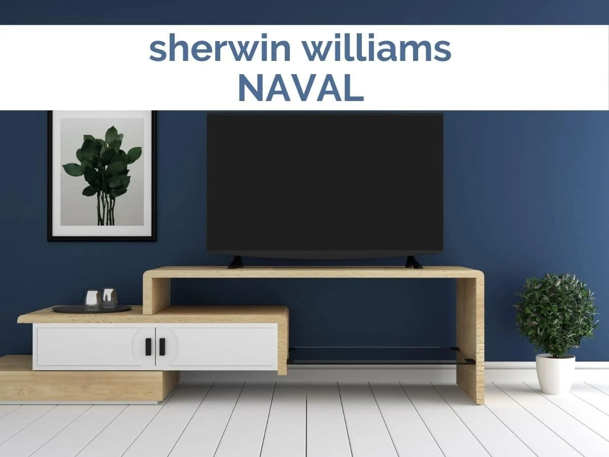 sherwin williams naval painted walls