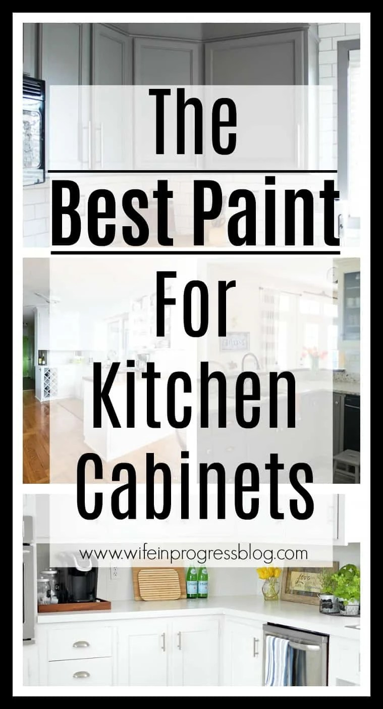 The best paint for painting kitchen cabinets. Get this first step right and you're on the right track to beautifully painted cabinets! #paintedcabinets #kitchen