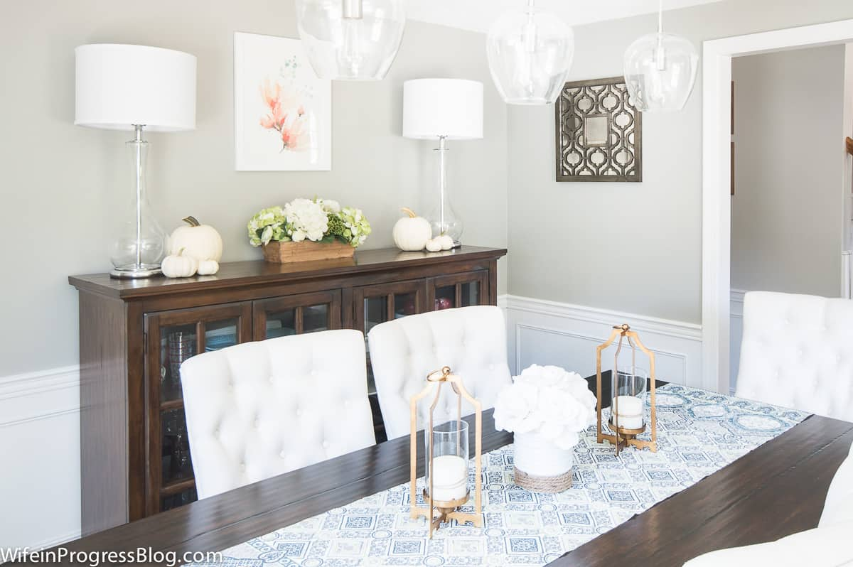 A dull dining room gets a beautiful makeover