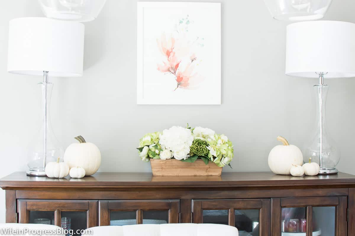 A beautiful neutral dining room makeover