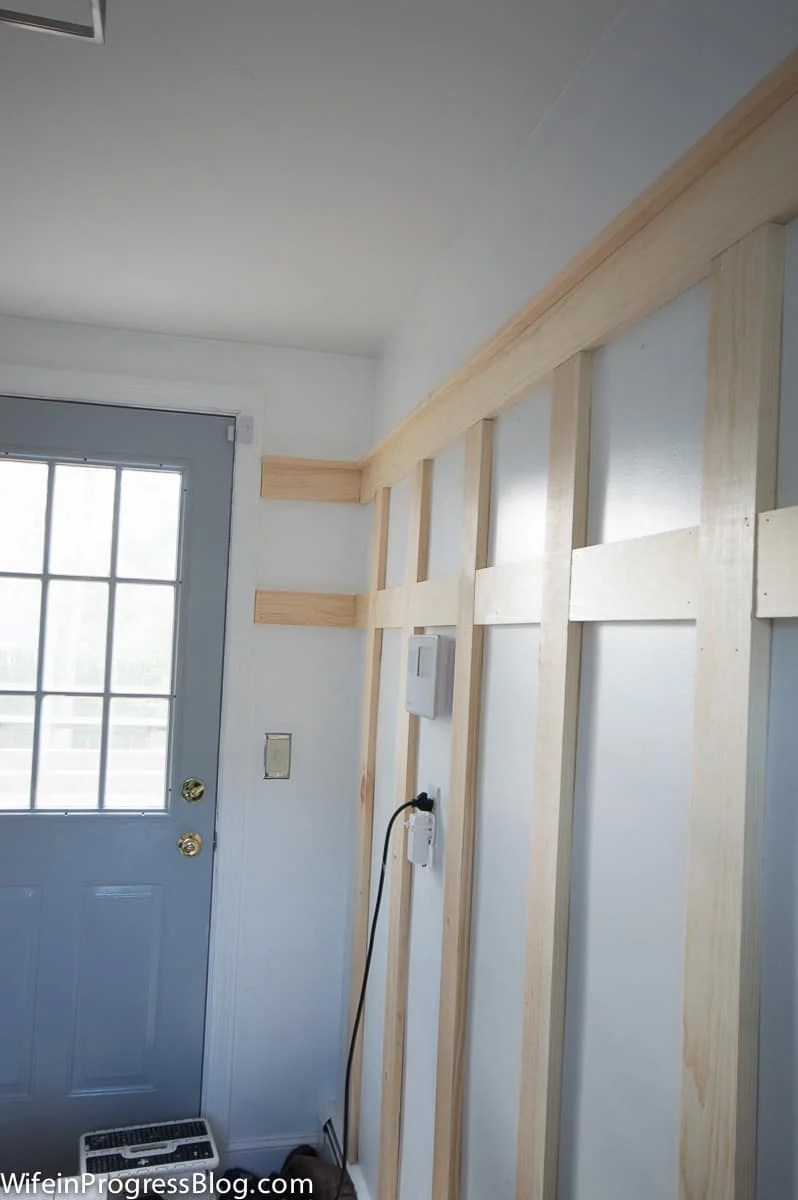 Figure out the width of your walls to decide how far apart the battens should be