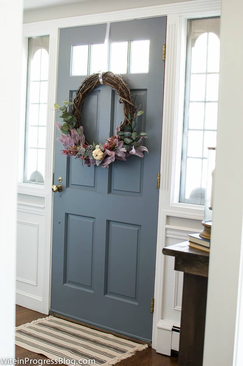 Make this pretty rustic mauve fall wreath